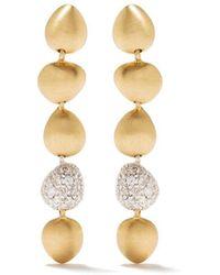 Brumani 18kt Rose And White Gold Corcovado Diamond Drop Earrings - Metallic