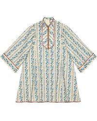 Gucci Rosebuds Poplin Short Kaftan - Multicolour