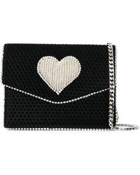 Les Petits Joueurs - Embellished Heart Crossbody Bag - Lyst