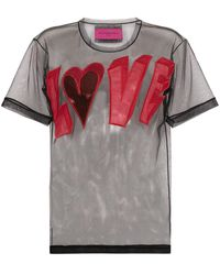 Viktor & Rolf ロゴ メッシュ Tシャツ - マルチカラー