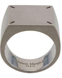 Maison Margiela Ring Met Stiksels - Metallic