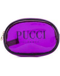 Emilio Pucci Medium Purple Transparent Cosmetics Case