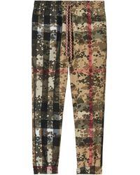 Burberry Спортивные Брюки С Принтом Camouflage Check - Многоцветный