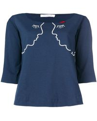 Vivetta | Embroidered Faces Jumper | Lyst