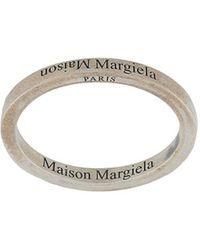 Maison Margiela Кольцо С Гравировкой - Металлик