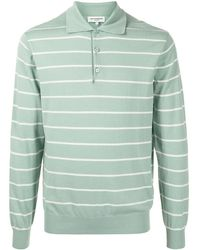 MAN ON THE BOON. Polo a rayas horizontales - Verde