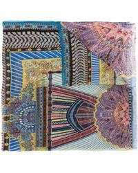 Etro Foulard à imprimé abstrait - Bleu