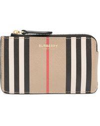 Burberry Pouch con motivo Vintage Check - Marrone