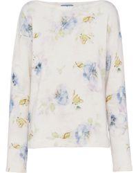 Prada - Pullover mit Print - Lyst