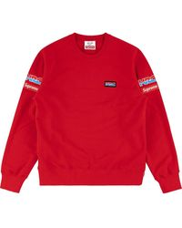 Supreme X Honda x Fox Racing Sweatshirt - Rot