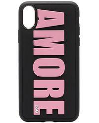 Dolce & Gabbana Amore Iphone X ケース - ブラック