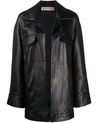 Marni Пальто Без Застежки - Черный
