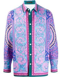 Versace - Рубашка С Принтом Le Pop Classique - Lyst