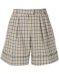 Baum und Pferdgarten Nomade Shorts mit Check - Gelb