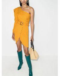 Johanna Ortiz Платье Shining Sun На Одно Плечо С Поясом - Желтый