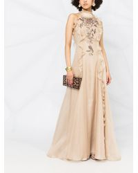Parlor Sequin-embellished Silk Evening Gown - Natural