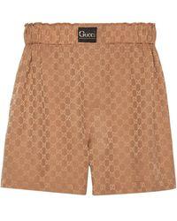 Gucci GG Silk Shorts - Yellow