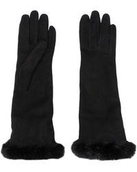 Gala Handschoenen Van Imitatiebont - Zwart