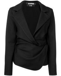 Jacquemus - Draped Fitted Jacket - Lyst