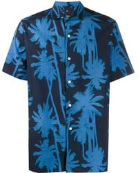 J.Lindeberg David Printed Shirt - Blue