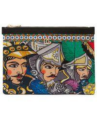 Dolce & Gabbana Trousse de toilette à imprimé graphique - Multicolore