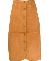COACH ボタン スカート - マルチカラー