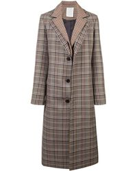 Monse チェック シングルブレスト コート - マルチカラー
