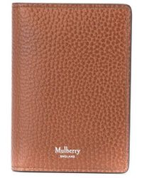 Mulberry Pebbled Leather Wallet - Brown