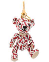 Burberry Charm para bolso Thomas Bear - Blanco