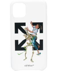 Off-White c/o Virgil Abloh Pascal Skeleton Iphone 11 ケース - ホワイト