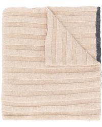 Brunello Cucinelli Cashmere Ribbed Scarf - Multicolour
