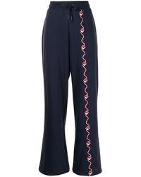 Fila Agnesina Flared Track Trousers - Blue