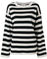 Laneus - Striped Knit Jumper - Lyst