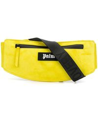 Palm Angels Logo Patch Belt Bag - Yellow