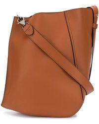 Lanvin Asymmetric Shoulder Bag - Brown