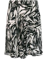N°21 ゼブラ スカート - ブラック