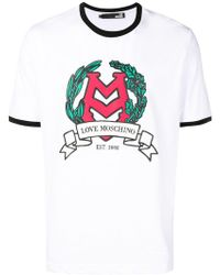 Love Moschino - T-Shirt mit Logo-Print - Lyst