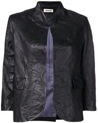 Zadig & Voltaire Creased Effect Leather Jacket - Black