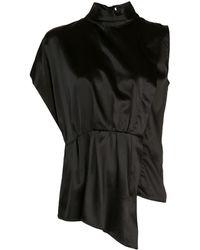 FEDERICA TOSI - Рубашка С Высоким Воротником Стойкой - Lyst
