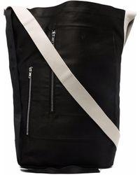 Rick Owens DRKSHDW Bolso shopper con bolsillo con cremallera - Negro