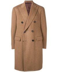 Lardini Двубортное Пальто Прямого Кроя - Естественный
