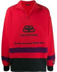 Balenciaga Pullover da sci BB Address - Rosso