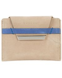 Buscemi Flap Cardholder - Brown