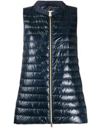 OCHENTA Women Quilted Zip Gilet Hooded Sleeveless High Neck Vest Jacket