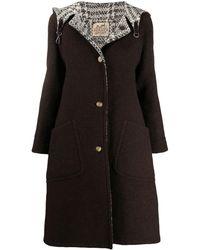Hermès Двустороннее Пальто 1990-х Годов С Капюшоном Pre-owned - Коричневый