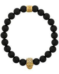 Northskull - Skull Charm Bracelet - Lyst