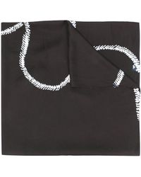 Suzusan プリント スカーフ - ブラック