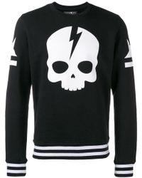 Hydrogen - Skull Printed Sweatshirt - Lyst