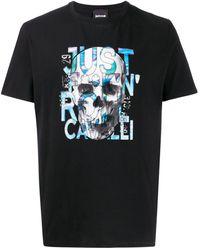 Just Cavalli スカル Tシャツ - ブラック