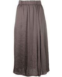 Luisa Cerano Asymmetric Drape Skirt - Gray